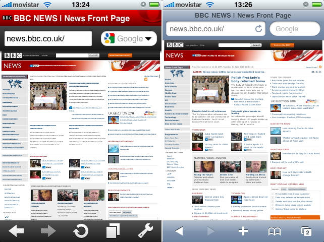 Opera Mini vs MobileSafari